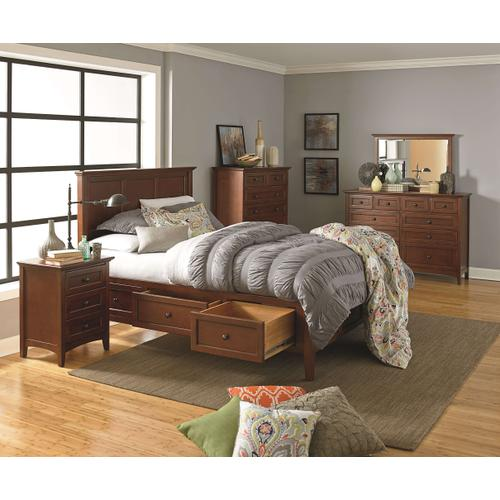 GAC McKenzie King Storage Bed Cherry Finish