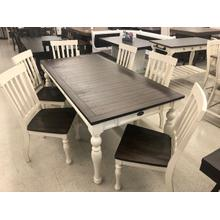 """See Details - Joanna Two Tone Dining Table 40""""x64""""x80""""x30"""" - 16""""Leaf"""