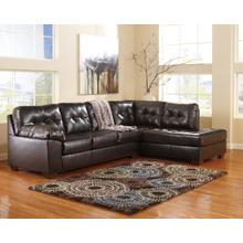 Alliston - Chocolate - 2-Piece Sectional with Right Facing Chaise
