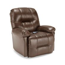 Zaynah Medium Leather Rocker Recliner (Saddle)
