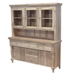 Bevel Top 5 Drawer Server with Hutch