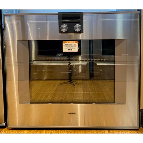"""Product Image - Gaggenau BO481611     400 series 400 series oven Stainless steel-backed full glass door Width 30"""" (76 cm) Left-hinged Controls on top"""
