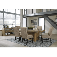 Sommerford - Brown - 7 Pc. - Rectangular Table & 6 Upholstered Side Chairs