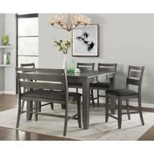 See Details - Mason 6 Pc Grey Counter Height Dinette Set by Vilo Home, Model VH2900
