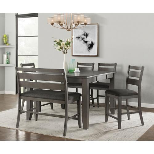 Mason 6 Pc Grey Counter Height Dinette Set by Vilo Home, Model VH2900