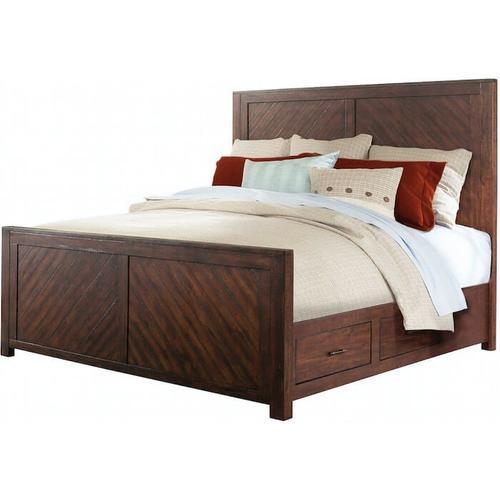Elements - Jax Bedroom - King Storage Bed