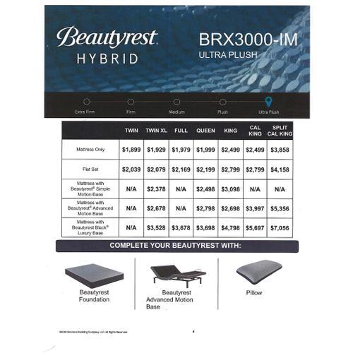 Beautyrest Hybrid - BRX3000-IM - Ultra Plush - Queen