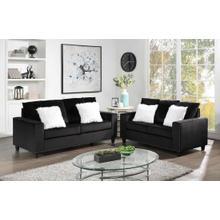 See Details - Cinderella-Black Sofa and Loveseat - 2 pc Set