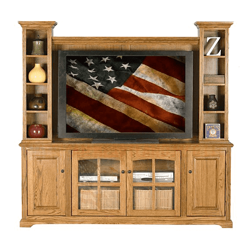 "Oak 45"" Entertainment Hutch"