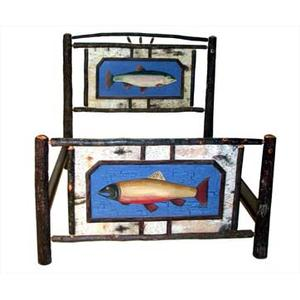 Hickory And Birch Bed With Trout Painting