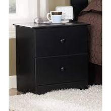 See Details - Black Perdue Night Stand