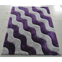 Medium - 3D Shaggy 802 Lilac 5x7 Rug