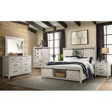 See Details - Scott White Queen Set (Dresser, Mirror, Door Chest, Queen Storage Bed)