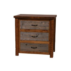Natural Barn Wood 3 Drawer Chest