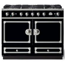 "La Cornue 43"" CornuFe 110 Gloss Black With Satin Chrome Dual Fuel Range"