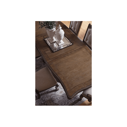 Charmond - Brown - 7 Pc. - Rectangular Extension Table & 6 Upholstered Side Chairs