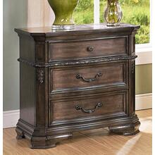 Larissa Nightstand - Weathered Brown