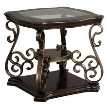 Seville Glass Top End Table