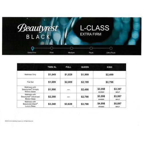 Beautyrest Black - L-Class - Extra Firm - Queen