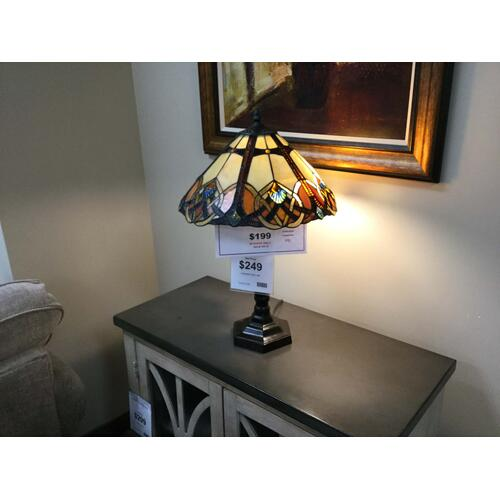 "Gallery - Quoizel ""Cambridge"" TFCB6325VB Table Lamp 16""W-16""D-23 1/2""H"