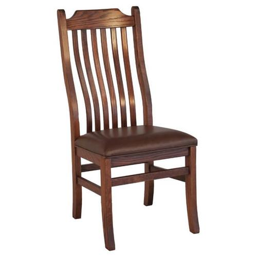 Oakwood Industries - Mission Side Chair Leather Seat