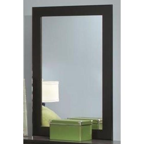 Jacob Collection Mirror in Stipple Black Finish