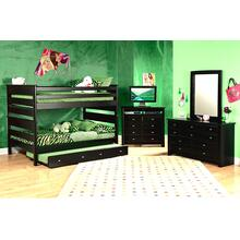 Full / Full Bunkbed Black Cherry