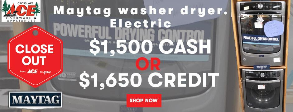 Maytag Washer Dryer  Electric  Closeout
