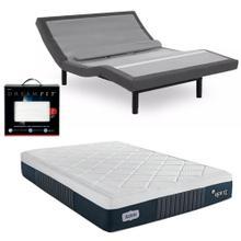 See Details - Leggett & Platt Prodigy Comfort Elite Adjustable Bed, Bedboss Heir Et Hybrid Mattress, and set of Dreamfit Sheets
