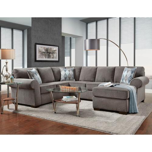 Affordable Furniture - 3050 Charisma Smoke Sectional