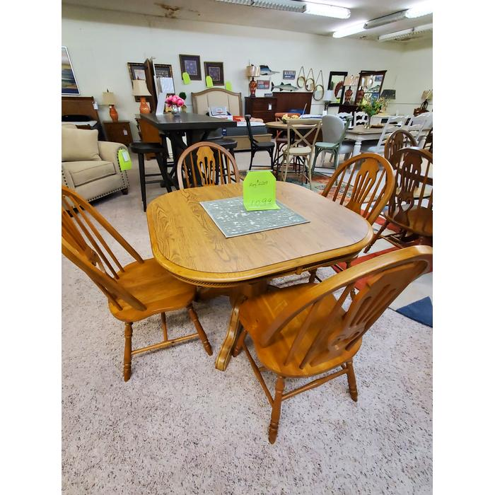 Vendor No Longer Available - BROOKS FURNITURE PEDESTAL TABLE & CHAIRS