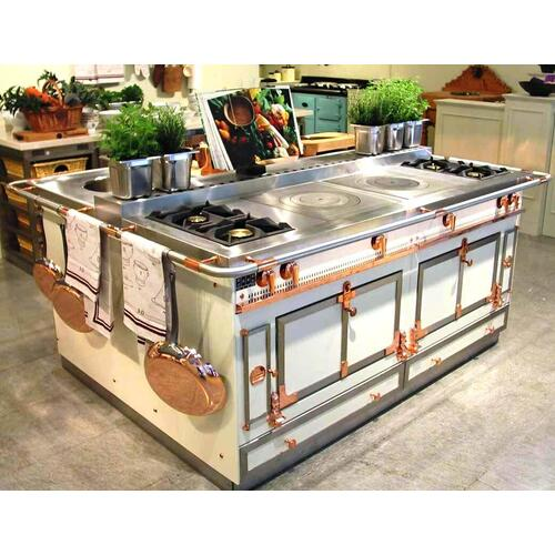 Chateau Grand Palais 180(N3) - 2-Gas Burners - 1-French Plaque - 1-Maxi-Burner - 1-Teppanyaki