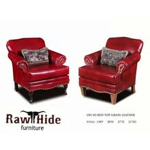 Oh So red Top Grain Leather Chair (Style 1309)