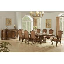 Vintage Dark Pecan Dining Room Set: Table, 4 Side Chairs & 2 Arm Chairs
