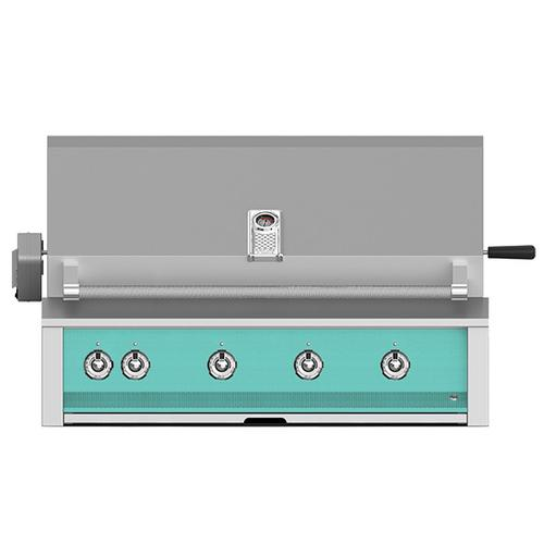 """Aspire By Hestan 42"""" Built-In Grill With U-Burner, And Rotisserie LP Turquoise"""