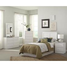 4 Piece Kith Queen Bedroom Set - White