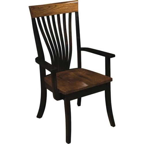 Chrisy Fan Back Arm Chair