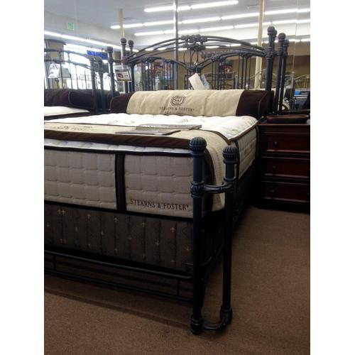 Wesley Allen Queen Size Fillmore Bed in Aged Iron floor sample as is
