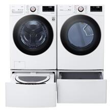 4.5 CF Ultra Large Capacity FL Washer w/ AIDD, Turbowash, Steam, Wi-Fi - White; 7.4 CF Ultra Large Capacity Electric Dryer w/Sensor Dry, Truesteam, Wi-Fi - White