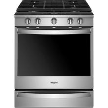 Whirlpool 5.8CF Fingerprint Resistant Stainless Steel Gas Slide In Convection Range with Self Clean