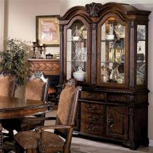 Crown Mark 2420 Neo Renaissance Dark Oak Buffet and Hutch