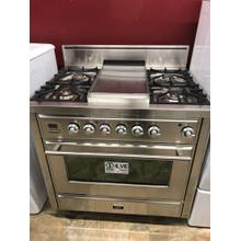 """Stainless Steel 36"""" Griddle Top Majestic Techno Gas Range"""