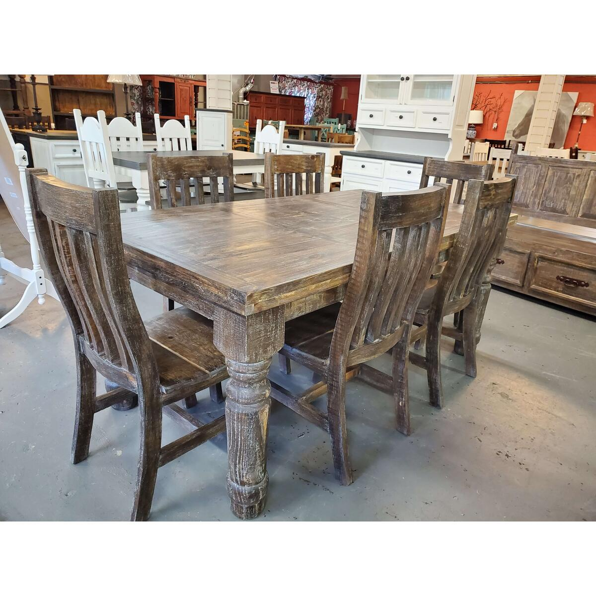 See Details - Santa Rita Rustic Industrial Finish Dining Chairs