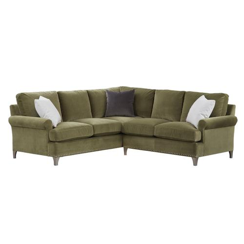 Bassett Furniture - Premier Collection -  BenchMade Custom Upholstery Deep L-Shaped Sectional