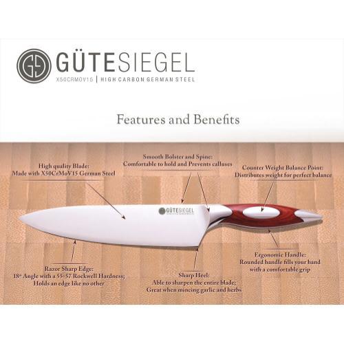 Rhineland - 3 Piece Chef knife Set in Presentation Box