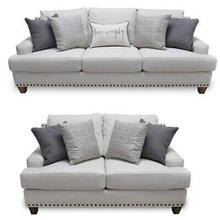 2 Piece Set : Sofa & Loveseat