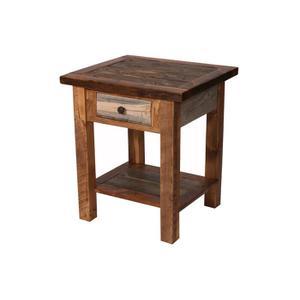 Natural Barn Wood 1 Drawer Nightstand