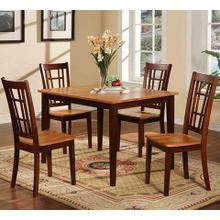 5-Piece Walnut/Oak Dinette