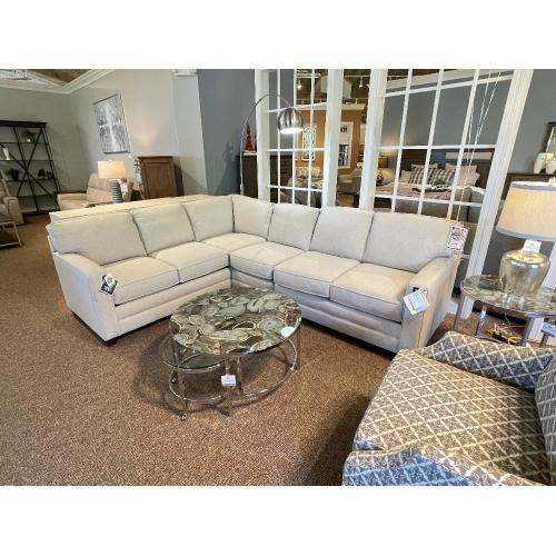 Bassett Furniture - ALEXANDER SECTIONAL WITH EXTRA ARMLESS CHAIR