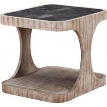 Obel Weathered Oak Rectangular End Table